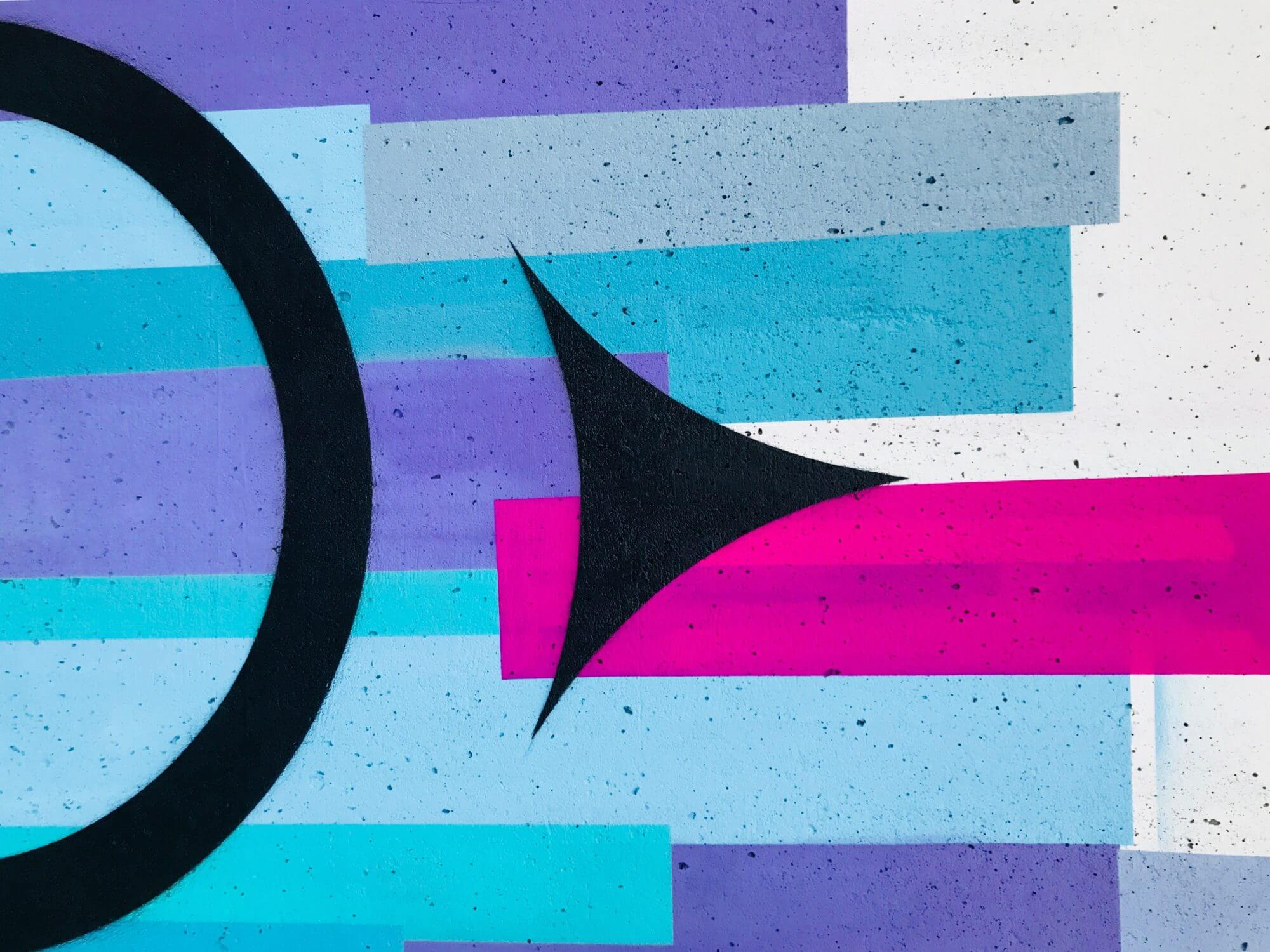 black arrow on abstract background